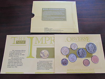 1988 Royal Australian Mint 8 Coin Uncirculated Set Canberra Animals Elizabeth II