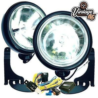 BMW Mini R50 52 R53 2001 to 2006 Black Spot lights Lamps Brackets Wiring Kit