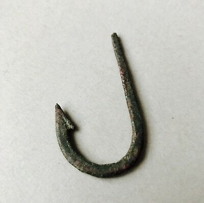 Large Ancient Roman Bronze Fish Hook C. 1st-2nd century A.D. FREE UK POSTAGE