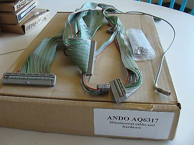 Ando AQ6317 Optical Spectrum Analyzer Misc Cable Assemblies and Hardware