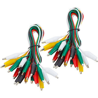 WGGE WG-026 10 Pieces and 5 Colors Test Lead Set & Alligator Clips (2 pack)