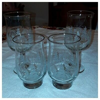 Vintage Arby's Frosted Christmas Glasses