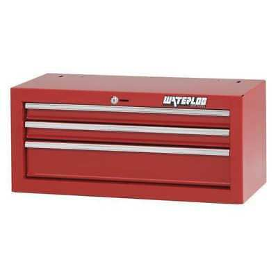 "WATERLOO SIN-263RD-F Intermediate Chest,3 Drawer,26"",Red G7098519"