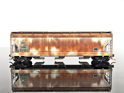 MTL Micro-Trains 09444470 3-Bay Covered Hopper WEATHERED/Graffiti ACFX #47487