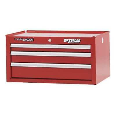 "WATERLOO PIN-263RD Intermediate Chest,3 Drawer,26"",Red G7101967"