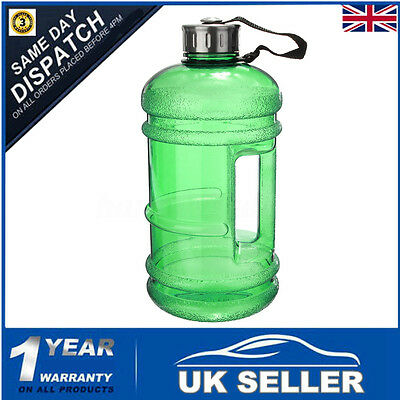 2.2L Large Sport Gym Training Camping Hiking Drink Green Water Bottle Kettle UK