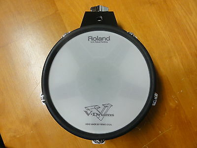 """Roland Pd-80R White Dual Trigger 8"""" Mesh Head Electronic V-Drum Pad Used"""
