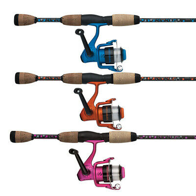 "1 x Shakespeare PINK 6'0"" AMPHIBIAN Fishing Spin Rod & Reel Combo - 2 Pc"