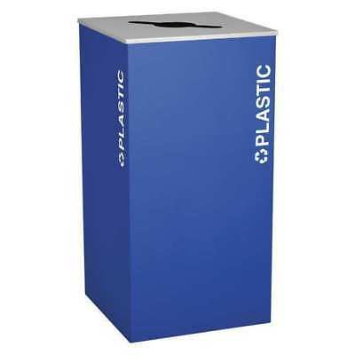 36 gal. Blue Square 36 gal. Square Recycling Container EX-CELL RC-KD36-PL RYX