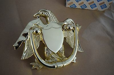 Vintage Baldwin Forged Brass AMERICAN EAGLE DOOR KNOCKER New in box unused 0122