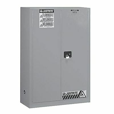 JUSTRITE 894523 Flammable Safety Cabinet,45 Gal.,Gray G9813395
