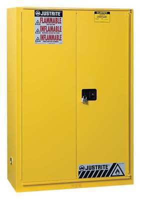 JUSTRITE 894590 Flammable Cabinet,60 Gal.,Yellow G9960036