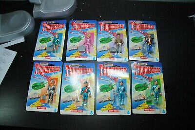 "Thunderbirds Matchbox  3 3/4 Inch "" Figures  ""1992  Moc   Nice Set"