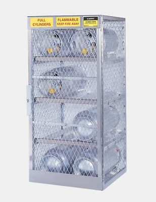 JUSTRITE 23005 Gas Cylinder Cabinet,60x32,Capacity 16 G9813316