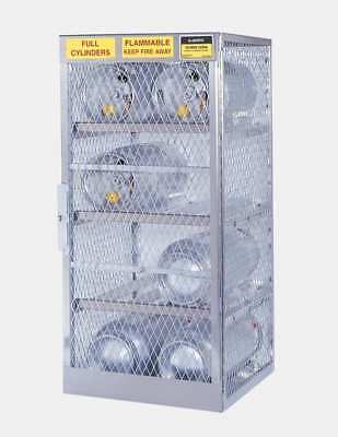 JUSTRITE 23004 Gas Cylinder Cabinet,60x32,Capacity 12 G9813325