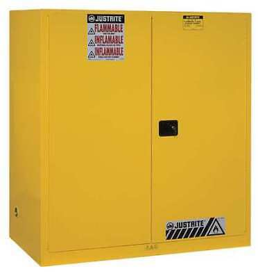 Flammable Safety Cabinet,110 Gal.,Yellow JUSTRITE 899120