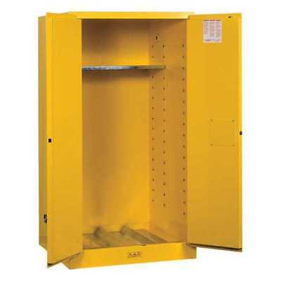 JUSTRITE 896220 Flammable Safety Cabinet,55 Gal.,Yellow G9813334