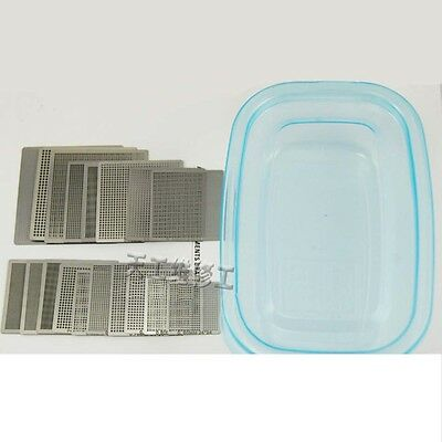 1Set 18PCS Universal Directly Heated BGA Reballing Template Stencils 0.25-1.0mm