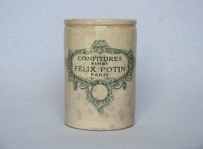 LARGE VINTAGE FRENCH EARTHENWARE JAM CROCK from Felix Potin, circa 1930