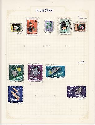 HUNGARY 1964 On Album Page Mostly VFU Items(g) removed for Shipping