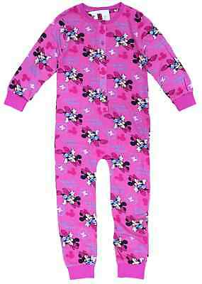 Girls Minnie Mouse All In One Sleepsuit Night Wear Pink 3-10 Years Bnwt