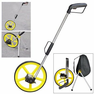 Foldable Distance Measuring Wheel With Stand & Bag Surveyors Builders Road Land1