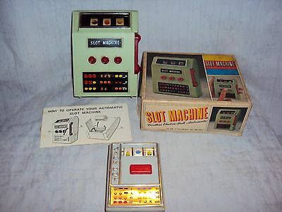 Vintage Pair Of Slot Machines Battery Operated