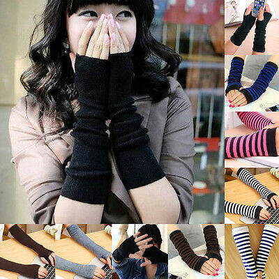 Femmes mitaines protection arm warmer long mitaines stretch gants manches