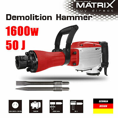 1600W Demolition Jack Hammer Chisel Electric Commercial Grade Power Tool
