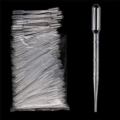 1/2/3ML Plastic Pipettes Eye Dropper Disposable Graduated Transfer Liquid Paint