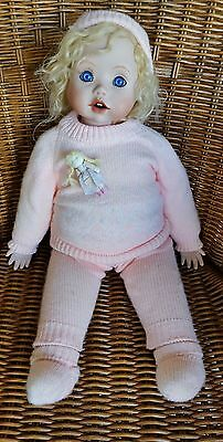 "21"" Porcelain baby doll handmade - super cute and cuddly"