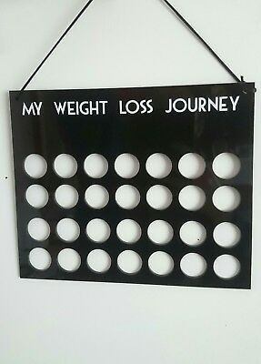 Acrylic £'s for lb's weight loss journey board motivation plaque fitness gift