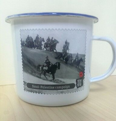 Anzac Australian Troops Light Horse Brigade 1918 Commemorative Tin Mug