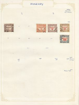 HUNGARY 1922 +on old Album Page Removed for Shipping