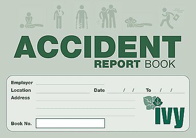 Accident Report Book First Aid Injury School Office Business Health Record Ivy