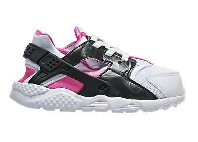 Girls Kids NIKE HUARACHE RUN TD White Trainers 704952 104
