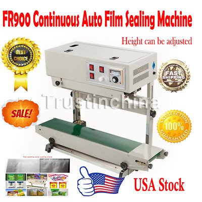 Horizontal Continuous Plastic Bag Automatic Band Sealing Sealer Machine FR900 US