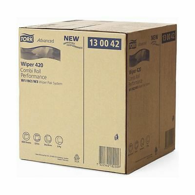 'Tork' Wiper 420 - 2 Ply Wiping Paper Plus - Box System - 1 x Roll