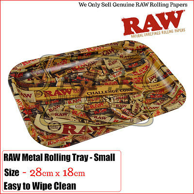 Raw Mix Rolling Metal Tray - Small & Large Buy 1 & 2 Trays