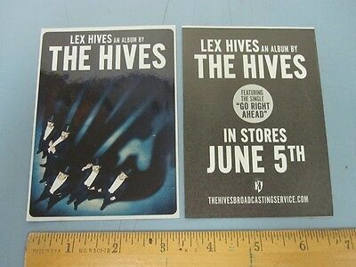 THE HIVES 2012 LEX HIVES promotional sticker New Old Stock Mint Condition