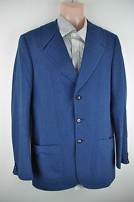 frieze vintage men's jacket blazer 38l wool blend retro