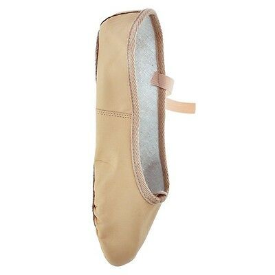 Starlite Basic Leather Ballet Shoes, Full Sole PINK