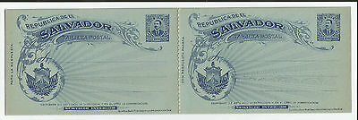 El Salvador 3xAntwortkarten** 1897,  post. sta. reply cards