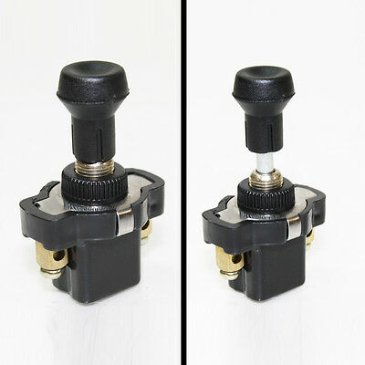12v 24v Universal On Off Long Push Pull Switch Button Knob Car Dash Motorcycle