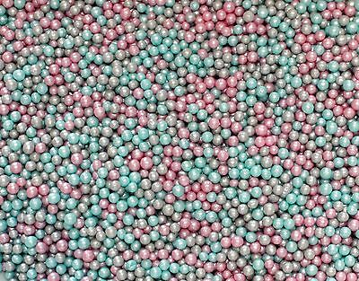 100g Unicorn Glimmer Pearls, Sprinkles Edible cake Wedding Baby shower Birthday