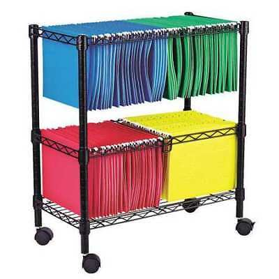 ALERA ALEFW601426BL Two Tier Rolling File Cart,26W,Black