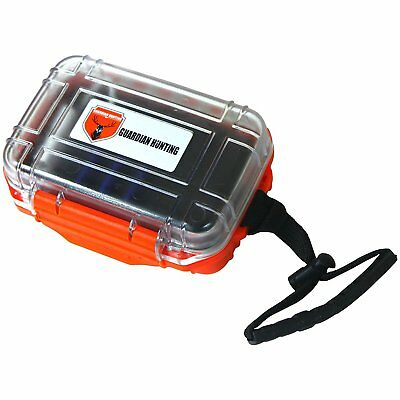 Best waterproof Sd card case #1 seller for sportsman (Orange)