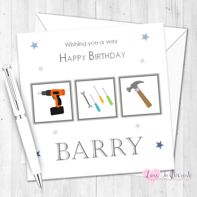 DIY Mad Personalised BIRTHDAY CARD For Him Dad Son Brother Daddy Fathers Day