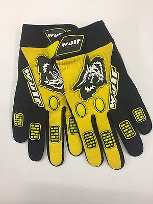 Adult Quad Wulf Wulfsport MX Motocross Motorcycle GP Gloves Yellow Clearance