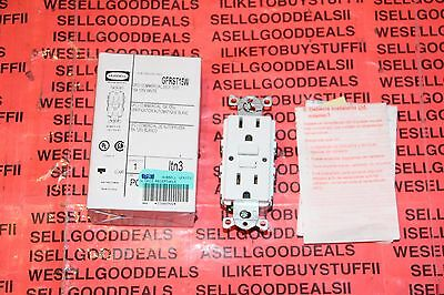 Hubbell GFRST15W GFCI Receptacle Commercial Self Test 15A 125V White Outlet New